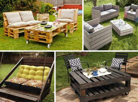 idee da giardino mobili da giardino pallet idee decorazioni per la casa