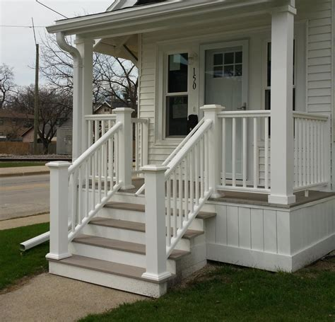 Front Porch Deck by Decorative Front Porch Post