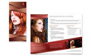 Hair Salon Brochure Templates by Hair Stylist Salon Brochure Template Design