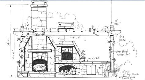 fireplace plan outdoor fireplace with pizza oven plans outdoor