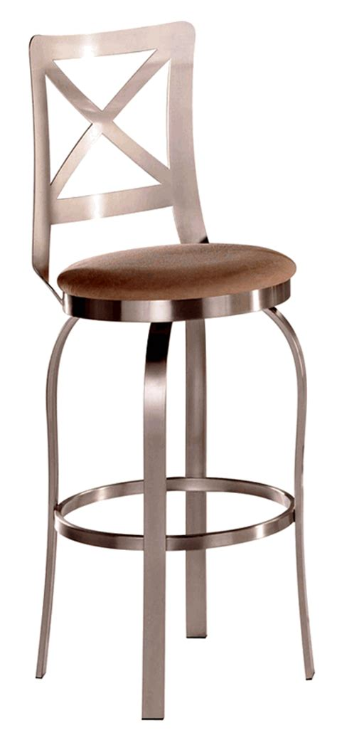 chateau bar stool chateau brushed steel swivel bar stool