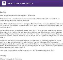 nyu tisch application nyu acceptance letter levelings