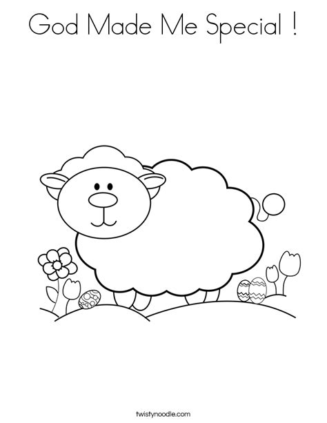 God Made Me Special Coloring Pages Chuckbutt Com God Made Me Special Coloring Pages
