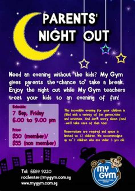 Parent S Night Out This Flyer Below Is Outdated But You Might Want To Read About Fun Parents Out Flyer Template Free
