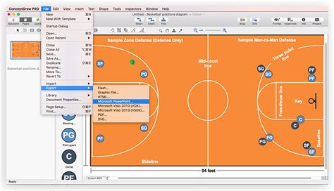 how to make a basketball court in your backyard create basketball court diagram conceptdraw helpdesk
