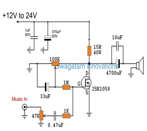 mosfet transistor audio lifier single mosfet class a power lifier circuit