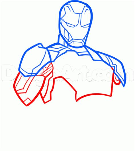 How To Draw Iron 3 how to draw iron 3 step by step marvel characters