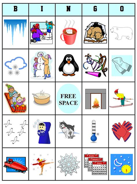 free printable winter board games printable winter bingo 54 bingo cards download this pdf
