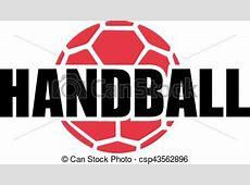 Handball word and ball. Flying Pig Drawing