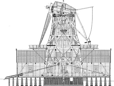 house construction blueprints building plans for dutch industrial windmills 1850