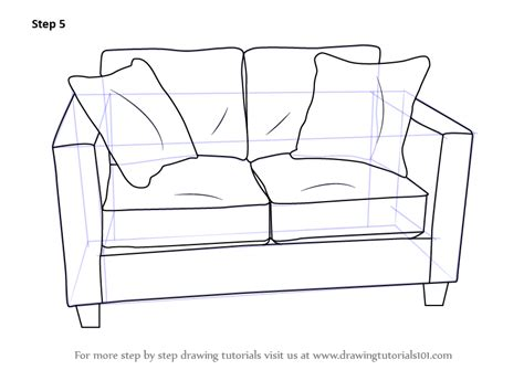 how to draw a recliner chair step by step learn how to draw love seats sofa furniture step by