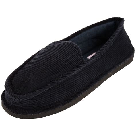 house shoes mens mens slippers house shoes corduroy color slip on moccasin