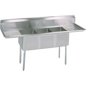 commercial kitchen sinks bk bks 3 1620 12 18t three compartment sink commercial