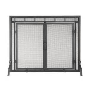 flat panel fireplace screen shop achla designs 44 in black iron flat fireplace screen at lowes