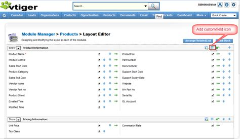 layout editor vtiger fix that bug series 3 missing add custom field icon