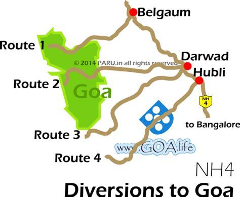 road map from mapusa to belgaum belgaum karnataka goa via chorla road condition
