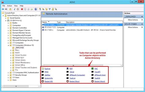 active directory console adding functionality to the active directory users and