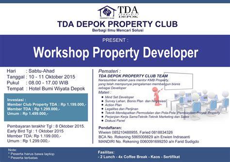 belajar membuat business plan 10 11 oktober 2015 workshop property developer tda