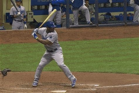 swinging a baseball bat correctly yasiel puig breaks his bat on a check swing sbnation com