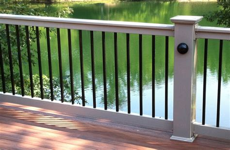 Aluminum Balusters For Deck Railings 4 Ii Baluster Handrail System Vinyl Handrail