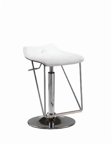 kronos white soft leather high low adjustable bar stool