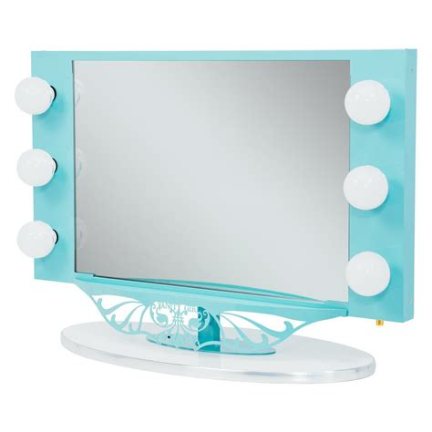 white mirror with lights bedroom curvy folding vanity mirror with white l