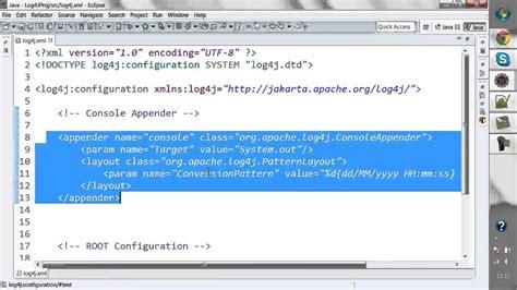 log4j tutorial xml configuration log4j api tutorial youtube