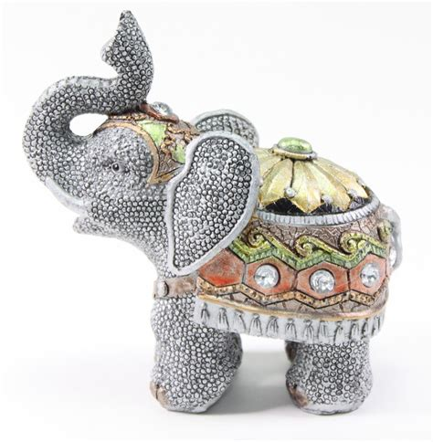 elephant home decor feng shui 5 quot gray elephant trunk statue lucky figurine