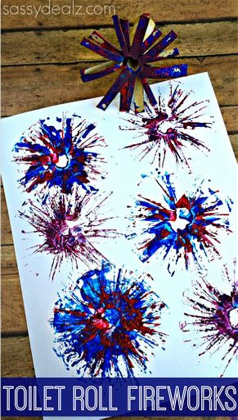 Paper Fireworks Crafts - toilet paper roll fireworks craft for fireworks