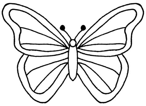 butterfly outline template free coloring pages cliparts co