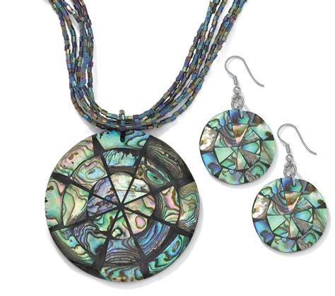 abalone jewelry abalone disk jewelry set abalone intensity