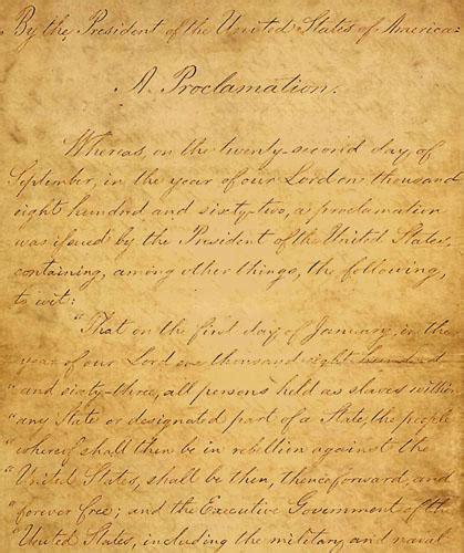 Original Emancipation Proclamation On Display in Tennessee ... Emancipation Proclamation Actual Document