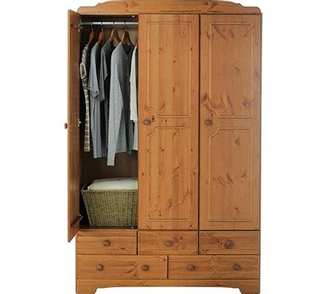bedroom furniture argos catalogue buy home nordic 3 door 5 drawer wardrobe pine at argos