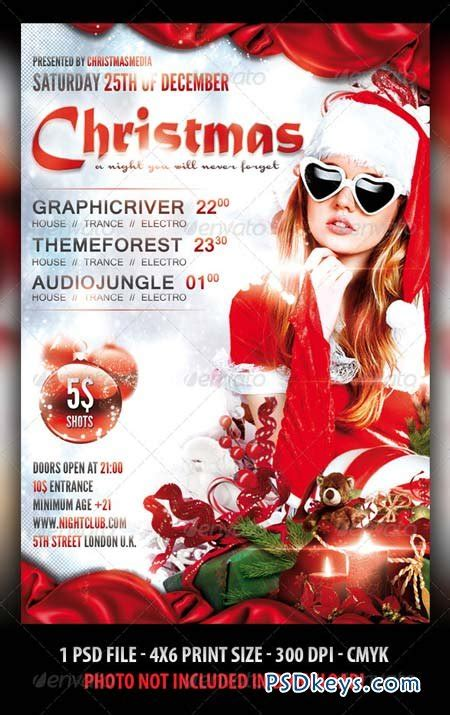 christmas party flyer template 3302243 187 free download