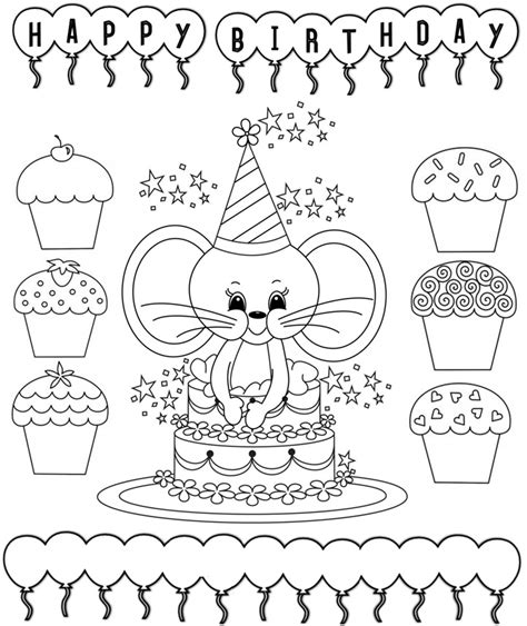 happy birthday coloring page for teacher enjoy teaching english september 2012