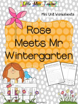themes in rose meets mr wintergarten rose meets mr wintergarten mini unit worksheets