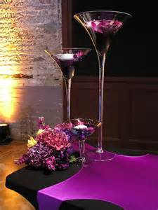 martini glass vases wedding centerpiece by partyspin