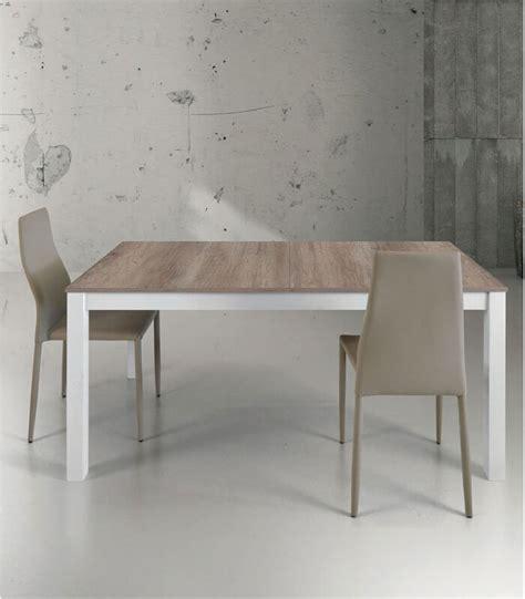 tavoli legno bianco tavolo allungabile in legno e metallo bianco spazio casa