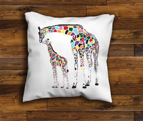 Handmade Cushions Uk - giraffe unique design cushion cover handmade 16 or 18 inch