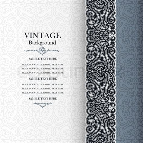 Modern Art For Home Decor by Vintage Background Antique Invitation Card Royal