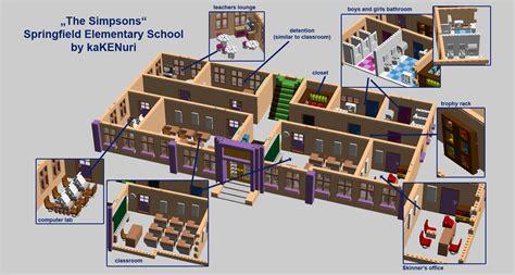 Computer Room Floor Plan by Lego Ideas Simpsons 169 Springfield Elementary