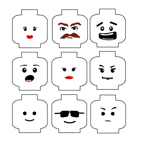 Lego Minifigure Template by Lego Faces On Lego Lego And