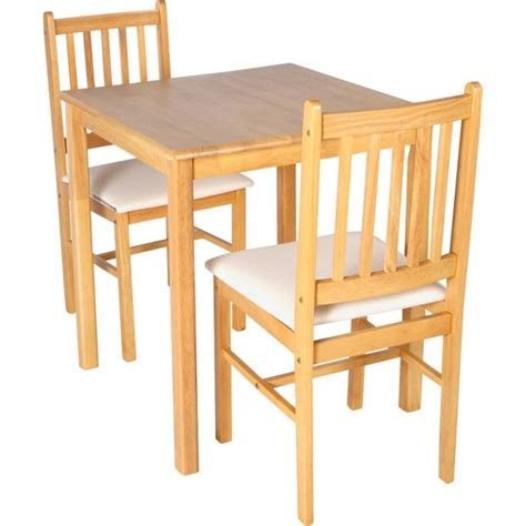 Buy Home Kendall Square Dining Table 2 Chairs Solid Wood Argos Dining Table And Chairs