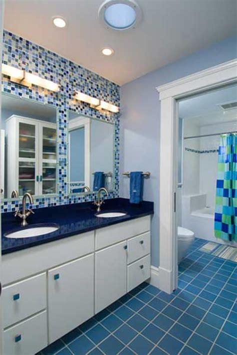 Blue Tile Bathroom Ideas by Blue And White Bathroom Decoration Ideas