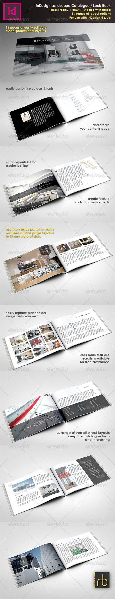 landscape brochure layout a4 landscape brochure look book indesign template