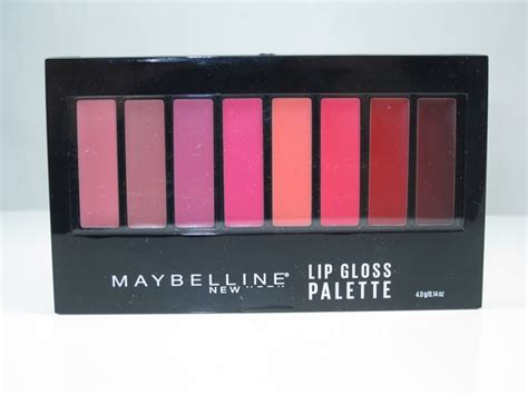 Lipstick Palette Maybelline maybelline lip gloss palette review swatches musings