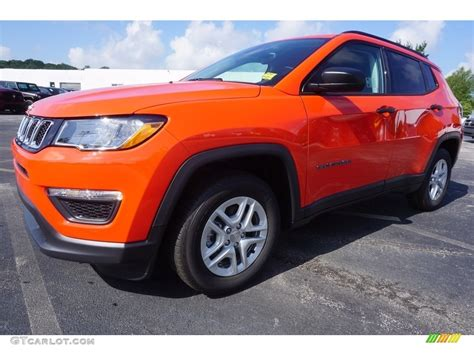 orange jeep compass 2017 spitfire orange jeep compass sport 121117427 photo