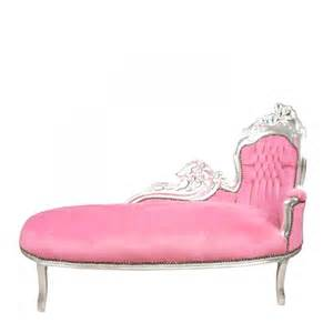 Pink Chaise Lounge Chaise Lounge Baroque Pink And Silver Armchair Chair Sofa In Stock