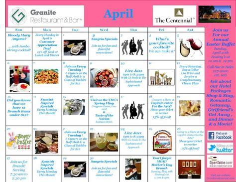 Events Calendar Take A Look At Centennial Hotel Granite Restaurant S