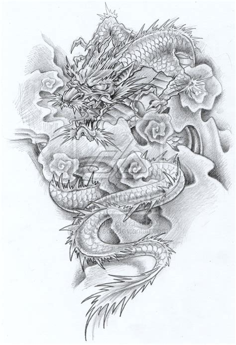 dragon tattoo drawing design